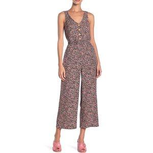 Mimi Chica Button Down Floral Jumpsuit